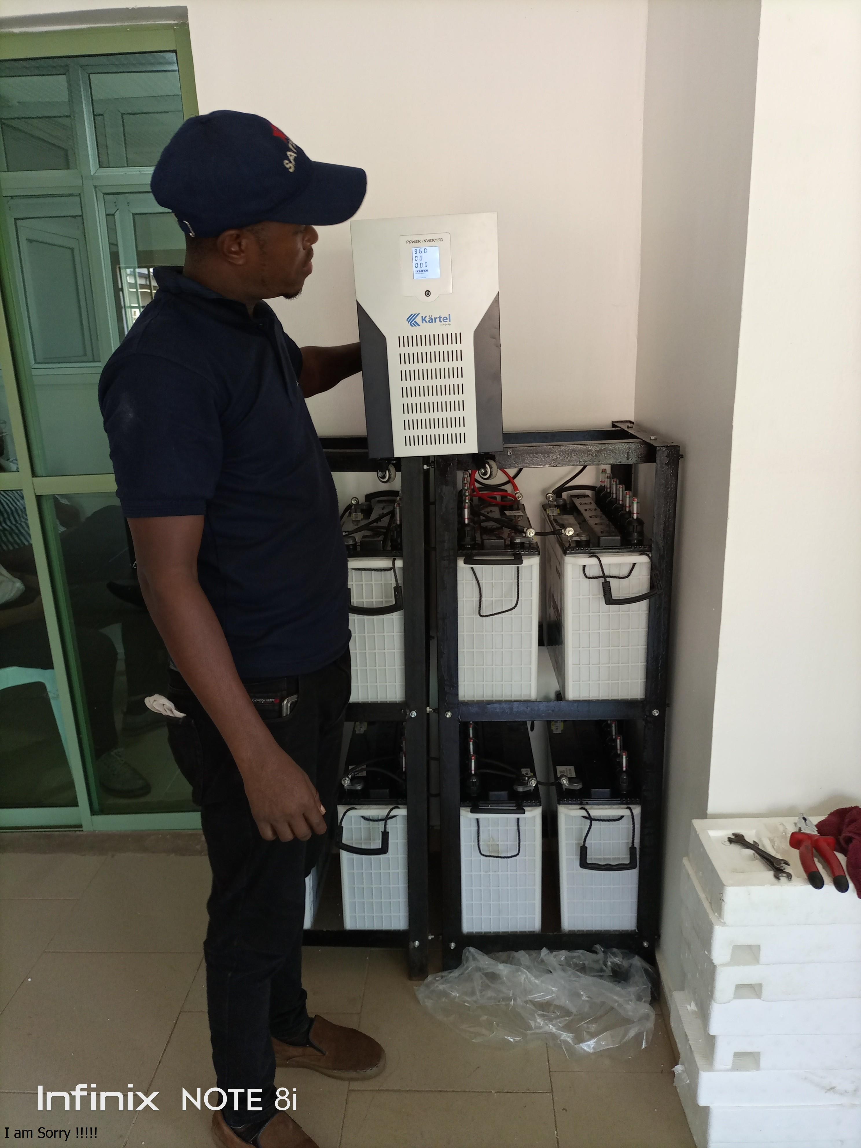 successful installation of 10kva inverter/96volts