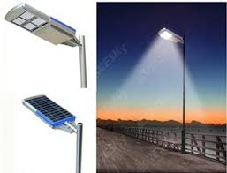15 Watts to 120 Watts All-In-One Solar-Powered Street/Security Lighting Systems